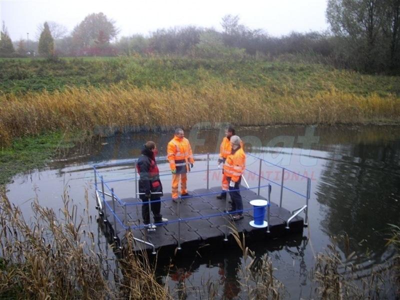 Schwimmende Arbeitsplattform mieten bei Duwe & Partner