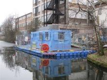 Arbeitsponton / Arbeitsplattform schwimmend für Sanierungsarbeiten