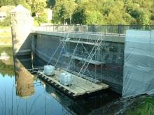 Arbeitsponton Brückensanierung