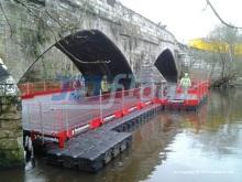 Pontonbrücke mit hoher Traglast