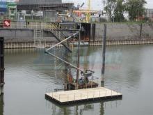 Schwimmende Ponton Arbeitsplattform gebraucht mieten