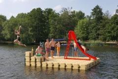 Schwimmponton kaufen mit Rutsche 5m x 5m