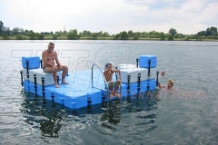 Pontons kaufen - Badeinsel aus Pontons
