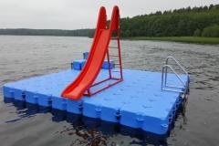 Kunststoff Schwimminsel - Pontonsysteme mit Duwe & Partner