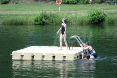 Ponton Schwimmkörper Badeplattform mit Treppe