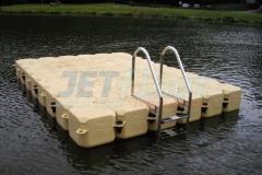 schwimmende Plattform auch für Angler