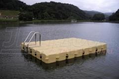 schwimmende Plattform ideal als Anglerplattform