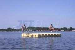 Schwimmende Ponton Badeinsel JETfloat
