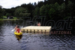 Schwimmende Ponton Badeinsel von JETfloat