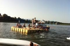 Hochwerige, schwimmende Ponton Badeinsel