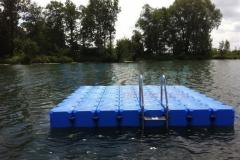 Kunststoff Badeinsel
