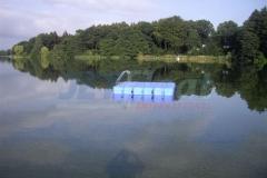 Badeinsel schwimmend