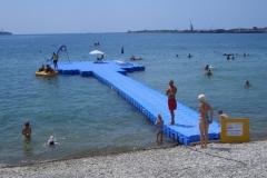 Badesteg / Schwimmsteg bauen mit Stegbauer Duwe