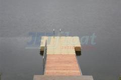 Kunststoff Badesteg mit Zulaufbrücke am Twistesee