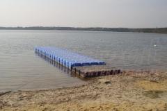 Loser am Dreiweibeiner See - Motorbootsteg und Anglersteg