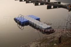 Edersee in Deutschland - Schwimmkörper Badesteg von Duwe & Partner