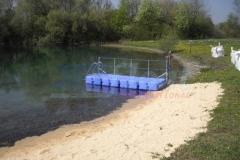 Schwimmender Badesteg von Duwe & Partner