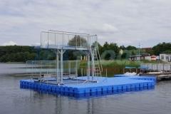 Schwimmsteg mit Sprungturm in Grevesmühlen (Deutschland)