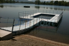"Tolle Attraktion im Strandbad Gifizsee in Offenbach ""Floating bar"""