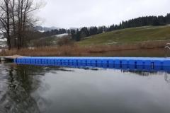 Schwimmste g/ Badesteg aus JETfloat Pontons am Niedersonthofener See