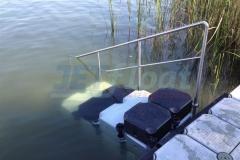 Schwimmsysteme Lösung mit Duwe & Partner kein Problem - Hier eine Treppe aus Ponton Schwimmkörpern