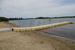 Pontonssystem Schwimmsteg am Lanker See in Preetz in der Nähe von Kiel