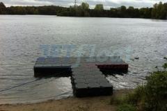 DLRG Schwimmsteg für Rettungsboote in Ratingen