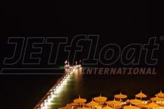 JETfloat Ponton Steg in Ägypten mit Beleuchtung - ein besonderes Highlight am Abend und in der Nacht