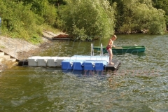 Badesteg Schwimmsteg Kunststoff