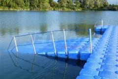 Schwimmkörper Badesteg mit Behindertengerechter Rampe und Geländer