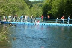 Schwimmende Ponton Behelfsbrücke mieten
