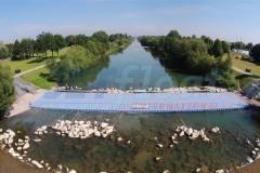Behelfsbrücken schwimmend