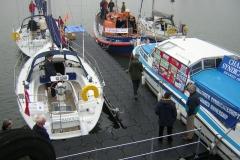 Bootsteg mit Zulaufbrücke aus Holz & Edelstahl