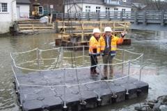 Ponton Floss Wasserarbeiten