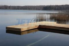 Pontonsteg Holzverkleidet