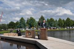 Ponton Badesteg - Holzverkleidet
