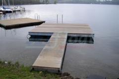 Ponton Badesteg aus Holz