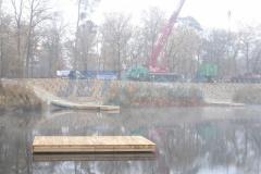 Holz Badesteg
