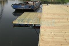 Ponton Bootssteg aus Holz