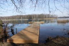 Ponton Bootsanleger Holzverkleidet