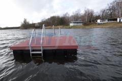 Ponton und Holz Bootsanleger bauen