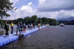 Schwimmbrücke Pontonbrücke