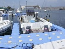 Bootssteg Parkplatz aus Ponton Schwimmkörpern