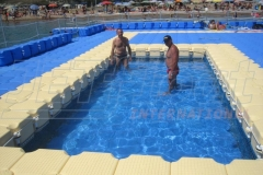 Schwimmplattform bauen Ponton System