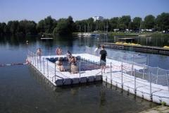 Schwimmplattform Duwe Ponton System