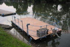 Transport Floß Ponton