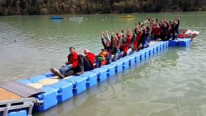 Ponton Schwimmkörper Wasserwacht Peiting