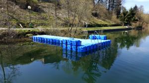 Ponton Bootssteg Göbel's Seehotel Diemelsee