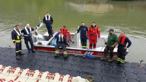 Bootsplattform für Feuerwehr Oberwesel