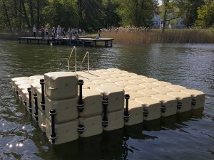 Kunststoff Badeinsel Krakow am See